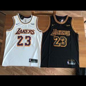 quality design cd653 07a9e Nike Lebron Laker's Jersey NWT